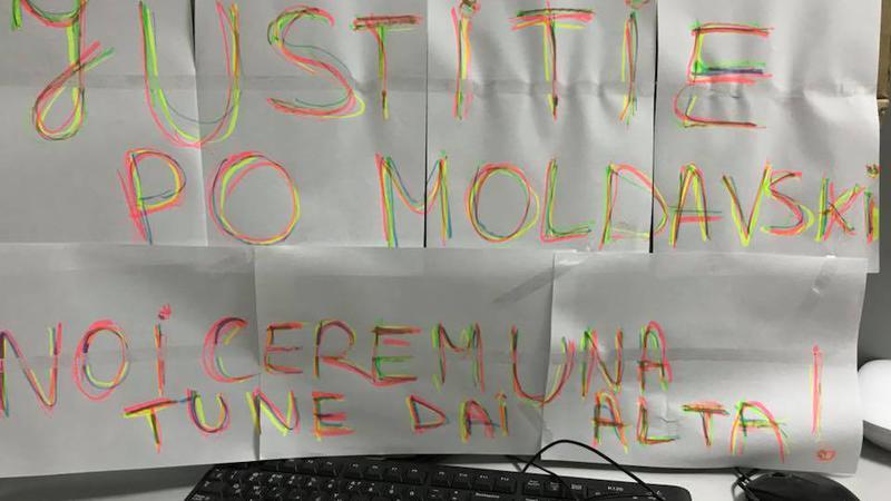 protest la locul de muncă3 | Sursa: Facebook/Taniusha Bulicanu
