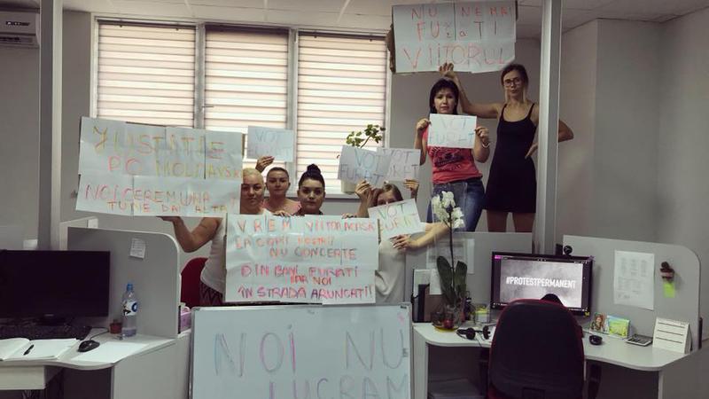 protest la locul de muncă4 | Sursa: Facebook/Taniusha Bulicanu