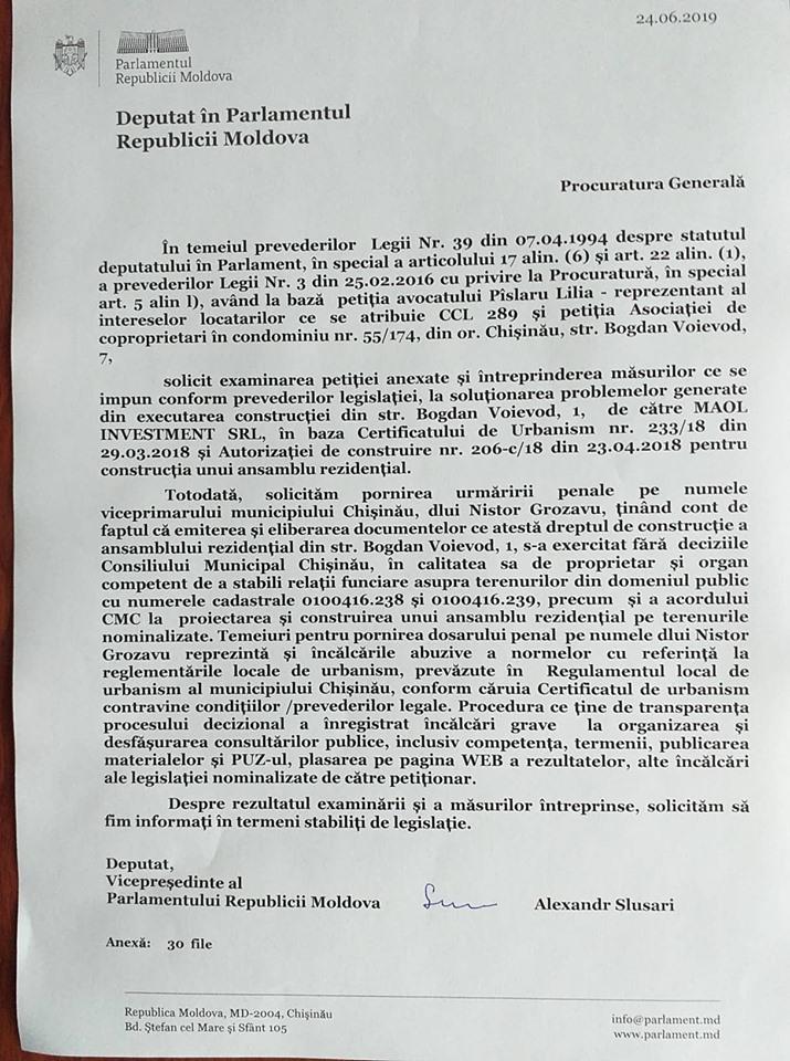 Grozavu, denunț