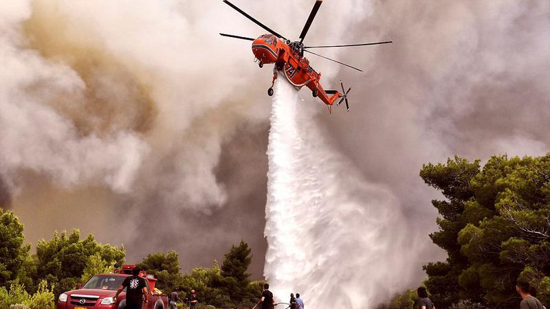 incendiu grecia | Sursa: AFP