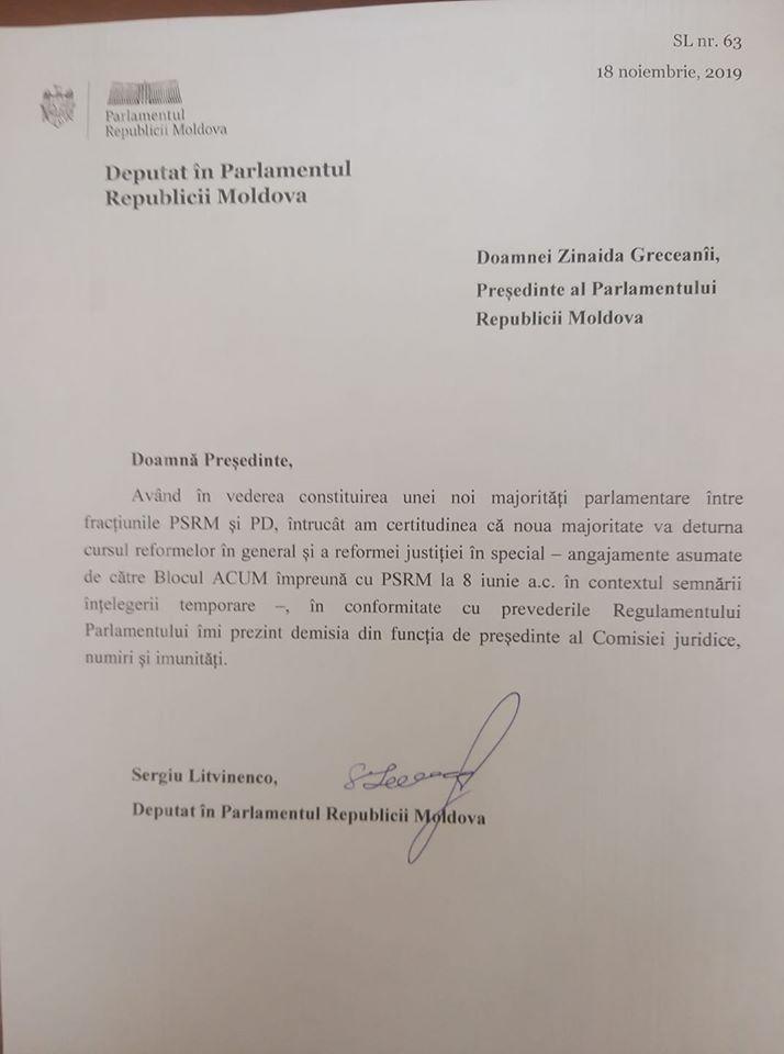 litvinenco demisia
