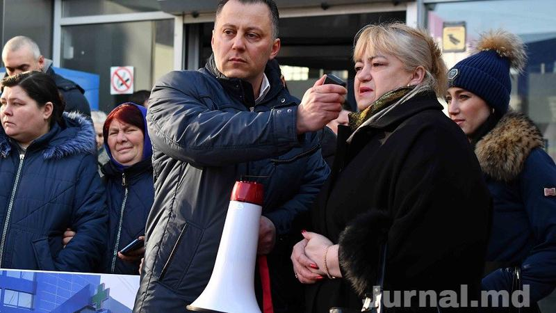 protest gara | Sursa: Jurnal.md / Nadejda Roșcovanu